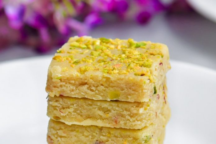 Almond Saffron Fudge, a Delicious Dessert Recipe